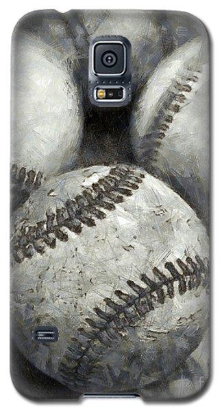 Old Baseballs Pencil Galaxy S5 Case by Edward Fielding