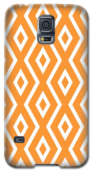 Orange Pattern Galaxy S5 Case by Christina Rollo