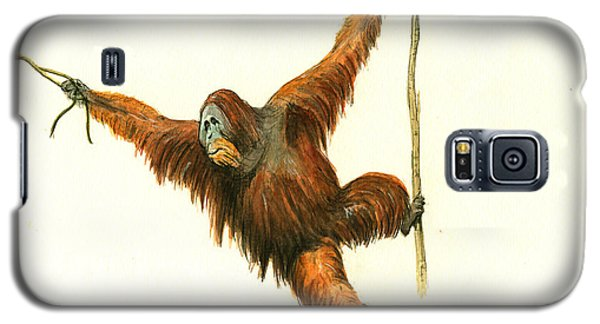 Orangutan Galaxy S5 Case by Juan Bosco