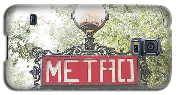 Ornate Paris Metro Sign Galaxy S5 Case by Ivy Ho