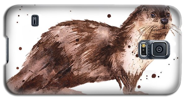 Otter Painting Galaxy S5 Case by Alison Fennell