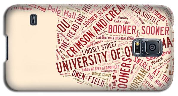 Ou Word Art University Of Oklahoma Galaxy S5 Case by Roberta Peake
