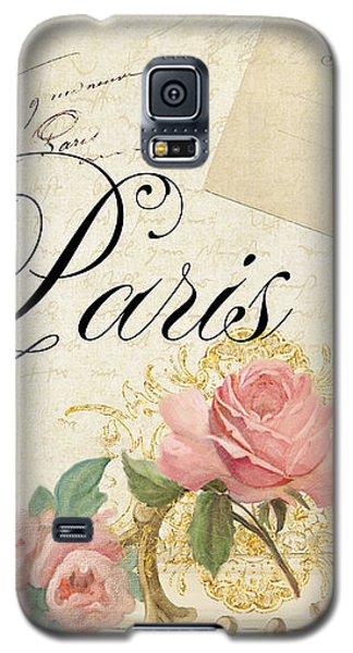 Parchment Paris - Timeless Romance Galaxy S5 Case by Audrey Jeanne Roberts