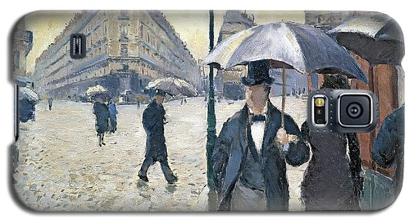 Paris A Rainy Day Galaxy S5 Case by Gustave Caillebotte