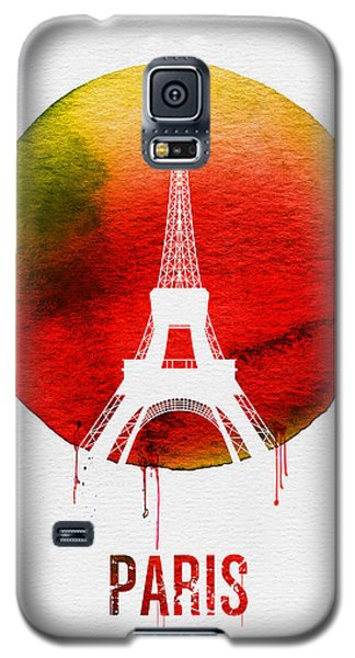 Paris Landmark Red Galaxy S5 Case by Naxart Studio