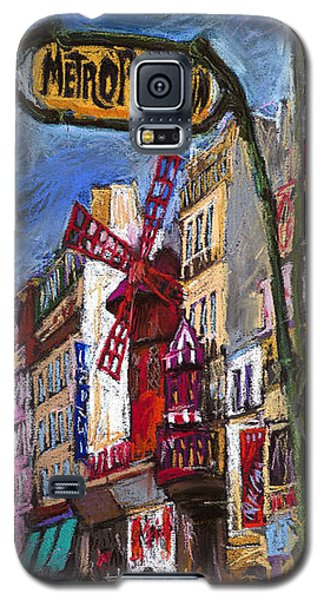 Pastels Galaxy S5 Cases - Paris Mulen Rouge Galaxy S5 Case by Yuriy  Shevchuk