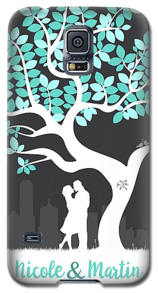 Personalized Dallas Texas Skyline Wedding Gift Galaxy S5 Case by Aged Pixel