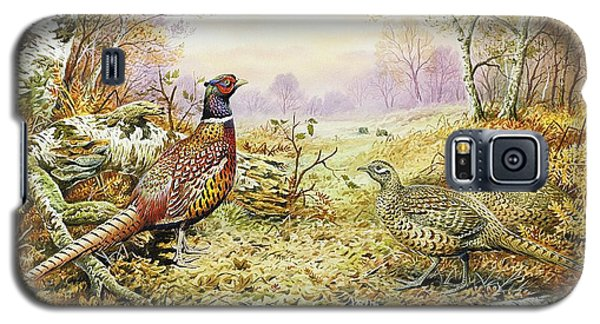 Pheasants In Woodland Galaxy S5 Case by Carl Donner
