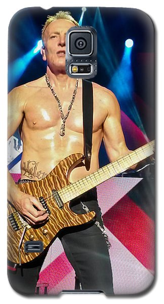Phil Collen Of Def Leppard 5 Galaxy S5 Case by David Patterson