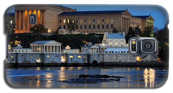 Philadelphia Art Museum And Fairmount Water Works Galaxy S5 Case by Gary Whitton
