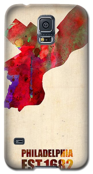 Philadelphia Watercolor Map Galaxy S5 Case by Naxart Studio
