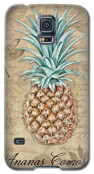 Pineapple, Ananas Comosus Vintage Botanicals Collection Galaxy S5 Case by Tina Lavoie