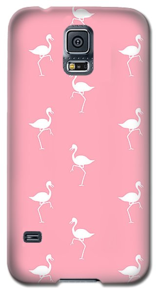 Pink Flamingos Pattern Galaxy S5 Case by Christina Rollo