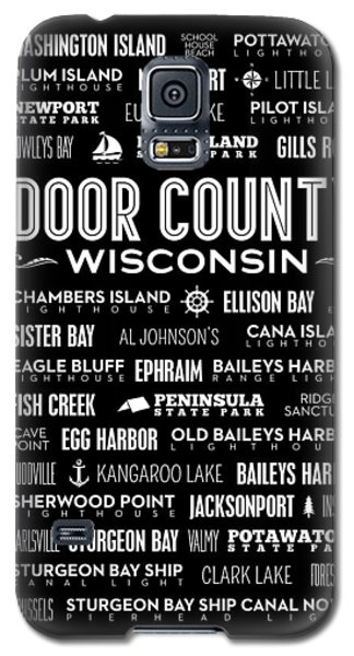 Places Of Door County On Black Galaxy S5 Case by Christopher Arndt