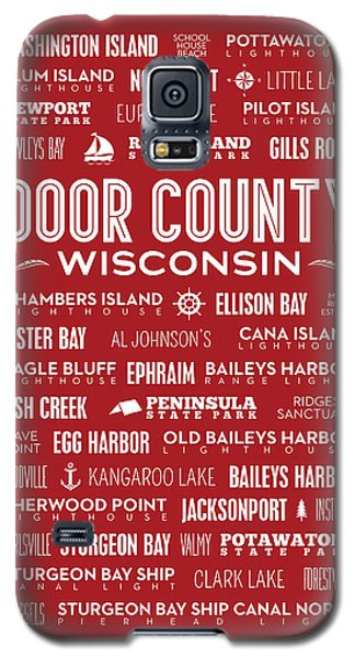 Places Of Door County On Red Galaxy S5 Case by Christopher Arndt