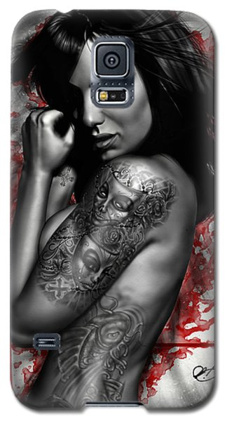 Nudes Galaxy S5 Cases - Plata o Plomo Galaxy S5 Case by Pete Tapang