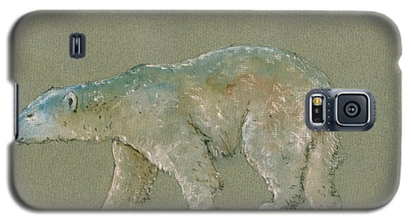 Polar Bear Original Watercolor Painting Art Galaxy S5 Case by Juan  Bosco