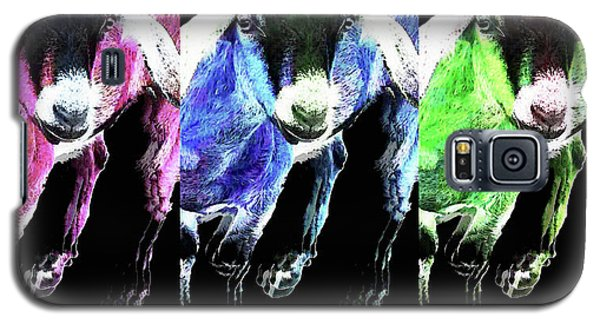Pop Art Goats Trio - Sharon Cummings Galaxy S5 Case by Sharon Cummings