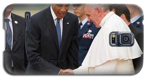 Pope Francis And President Obama Galaxy S5 Case by Mountain Dreams