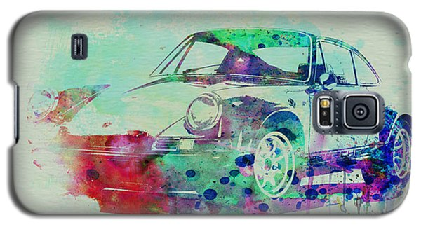 Drawings Galaxy S5 Cases - Porsche 911 Watercolor 2 Galaxy S5 Case by Naxart Studio