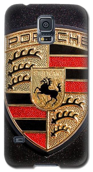 Red Galaxy S5 Cases - Porsche Emblem -211C Galaxy S5 Case by Jill Reger