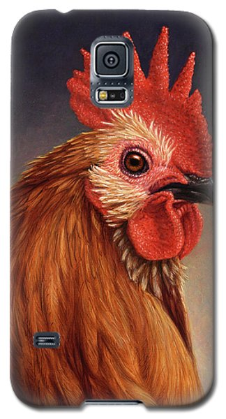 Portrait Of A Rooster Galaxy S5 Case by James W Johnson