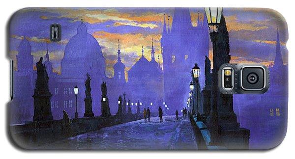 Architecture Galaxy S5 Cases - Prague Charles Bridge Sunrise Galaxy S5 Case by Yuriy  Shevchuk