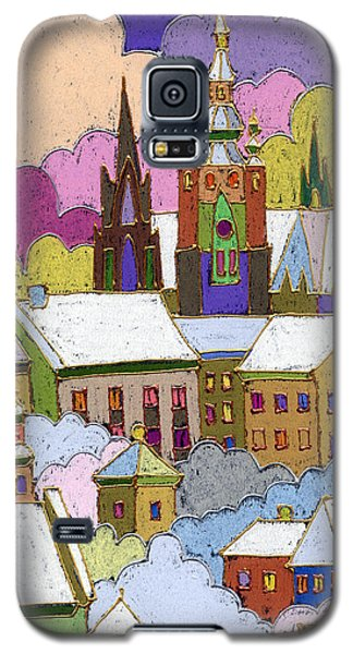 Prague Old Roofs Prague Castle Winter Galaxy S5 Case by Yuriy  Shevchuk