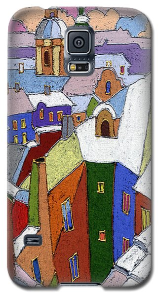Pastels Galaxy S5 Cases - Prague Old Roofs Winter Galaxy S5 Case by Yuriy  Shevchuk