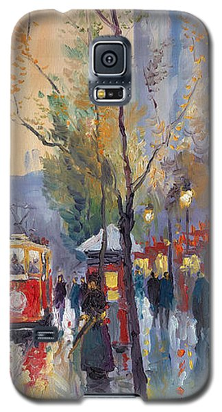 Galaxy S5 Cases - Prague Old Tram Vaclavske Square Galaxy S5 Case by Yuriy  Shevchuk