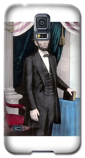 President Abraham Lincoln In Color Galaxy S5 Case by War Is Hell Store