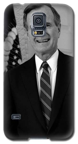 President George Bush Sr Galaxy S5 Case by War Is Hell Store