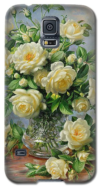Princess Diana Roses In A Cut Glass Vase Galaxy S5 Case by Albert Williams