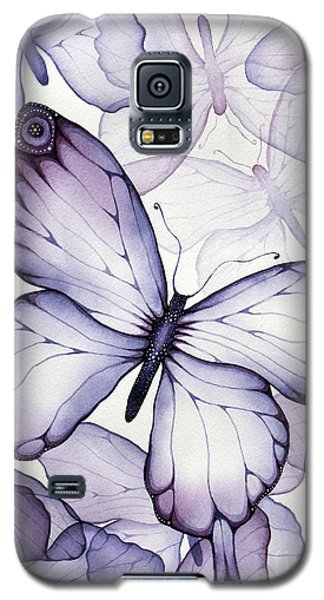Purple Butterflies Galaxy S5 Case by Christina Meeusen