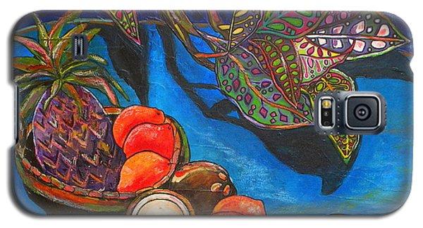Purple Pineapple Galaxy S5 Case by Patti Schermerhorn