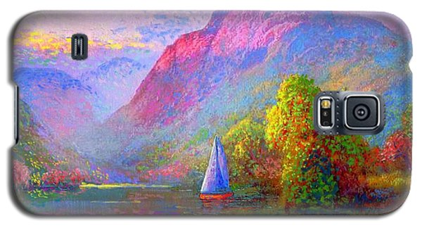 Light Galaxy S5 Cases - Quiet Haven Galaxy S5 Case by Jane Small