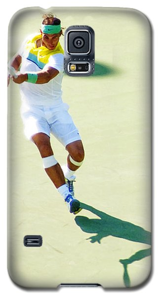 Rafael Nadal Shadow Play Galaxy S5 Case by Steven Sparks
