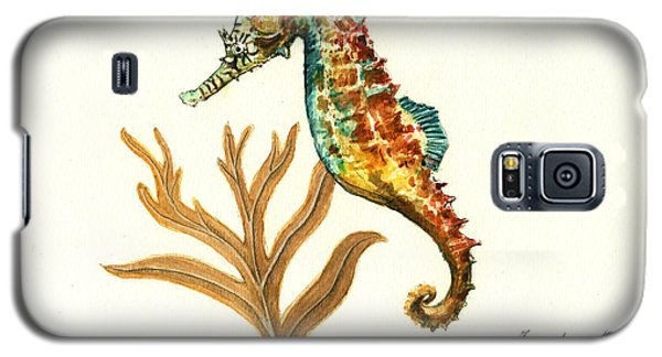 Rainbow Seahorse Galaxy S5 Case by Juan Bosco