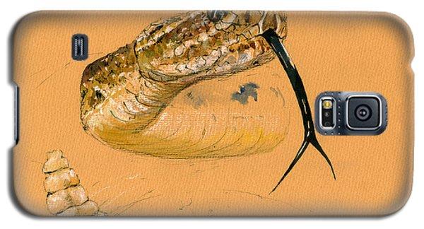 Rattlesnake Painting Galaxy S5 Case by Juan  Bosco