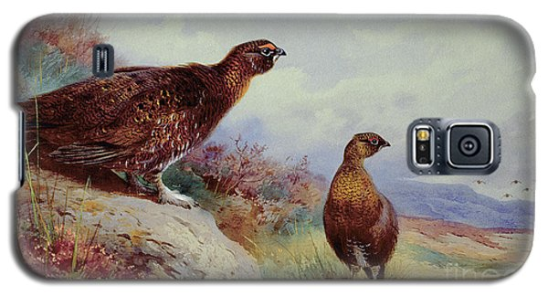 Red Grouse On The Moor, 1917 Galaxy S5 Case by Archibald Thorburn