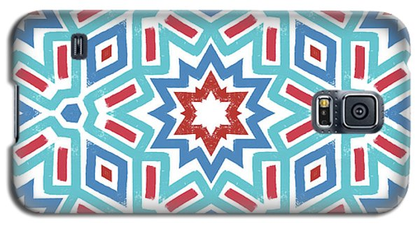Red White And Blue Fireworks Pattern- Art By Linda Woods Galaxy S5 Case by Linda Woods