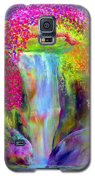 Bird Galaxy S5 Cases - Redbud Falls Galaxy S5 Case by Jane Small