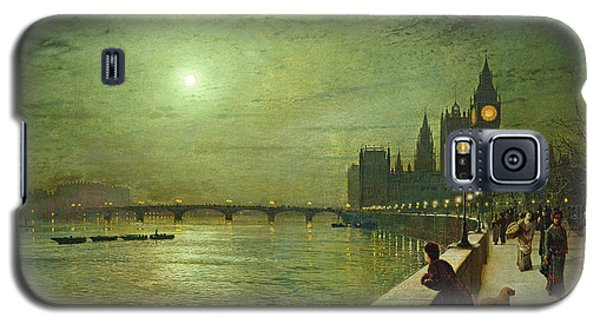 Reflections On The Thames Galaxy S5 Case by John Atkinson Grimshaw