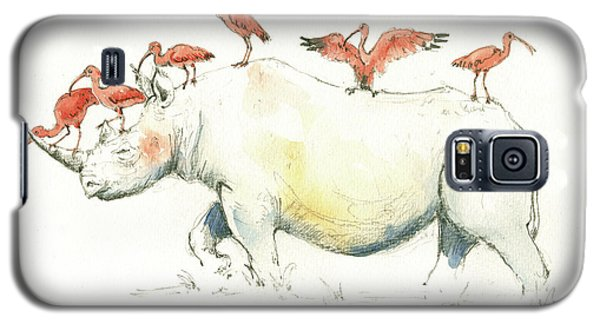 Rhino And Ibis Galaxy S5 Case by Juan Bosco