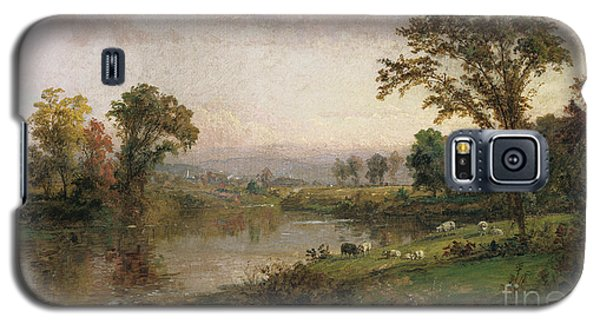 Riverscape In Early Autumn Galaxy S5 Case by Jasper Francis Cropsey