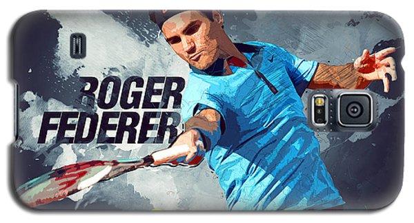 Roger Federer Galaxy S5 Case by Semih Yurdabak