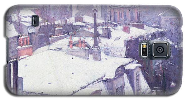 Roofs Under Snow Galaxy S5 Case by Gustave Caillebotte