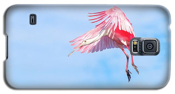 Roseate Spoonbill Final Approach Galaxy S5 Case by Mark Andrew Thomas