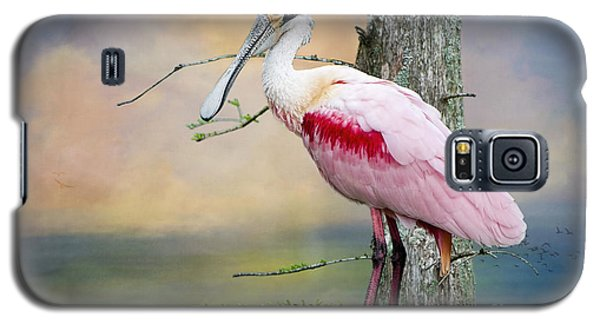 Roseate Spoonbill In Treetop Galaxy S5 Case by Bonnie Barry