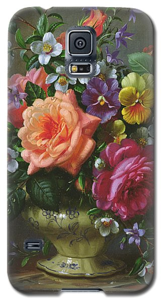 Roses And Pansies Galaxy S5 Case by Albert Williams